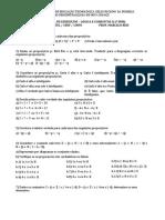 Lista 2 - Lógica e conjuntos I