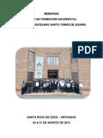 Documento conclusivo I Foro de formación sacerdotal