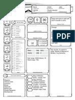 Tolen Character Sheet