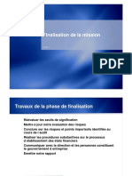 Finanlisation de la mission