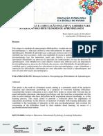 A PSICOPEDAGOGIA E A EDUCAÇÃO INCLUSIVA SABERES PARA SUPERAÇÃO DAS DIFICULDADES DE APRENDIZAGEM