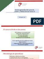 Lineamientos generales del curso de Comprensión  y Redacción II (1)
