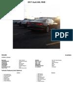 2017 Audi A8L RHD (JC015631)