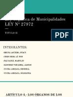 Ley Orgánica de Municipalidades LEY Nº 27972