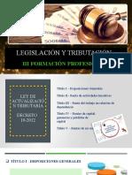 Legislación y tributación