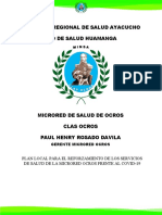 PLAN LOCAL PARA EL REFORZAMIENTO DE LOS SERVICIOS DE SALUD DE LA MICRORED OCROS FRENTE AL COVID-19