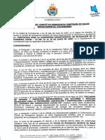 Resolución del COE de Cochabamba