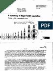 A Summary of Major NASA Launches, 1 October 1958 - 31 December 1979