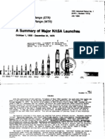 A Summary of Major NASA Launches, 1 October 1958 - 31 December 1979