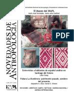 novedades de antropologia 85