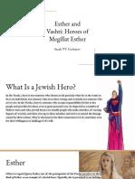 esther and vashti  heroes of megillat esther