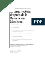 Arquitectura después de la Revolución Mexicana