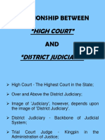 2.Relationship between High Court and District Judiciary