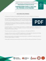 CUO. Protocolo 7. Recomendaciones para el Traslado del Personal en Autobomba