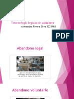Terminología legislación aduanera