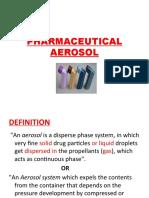 12. Pharmaceutical Aerosol