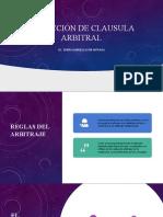 REDACCIÓN DE CLAUSULA ARBITRAL