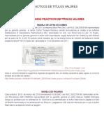 Casos prácticos de títulos valores [suplemento]