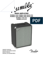 Fender Rumble Manual