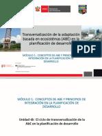 Transversalización de la adaptación basadas en ecosistemas en la planificación del desarrollo