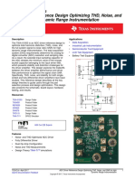ADC Driver Reference Design Optimizing THD, Noise, and SNR for High Dynamic Range Instrumentation