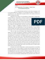 JSF - Chapter 6 - Linguaculture The Language - Culture Nexus