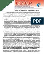 MODIFICAN LAS DISPOSICIONES PARA EL INFORME DEL TRABAJO REMOTO DE LOS PROFESORES (R.VM. Nº 098-2020-MINEDU)