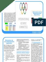 Folleto estructura organizacional en el Deporte