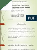 EQUIPO ERUBIEL- EDITH-MORELIA DETERMINACION DE COSTOS Y GASTOS