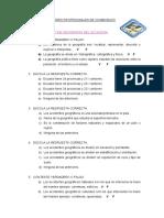 Cuestionario de Geografia Del Ecuador 2