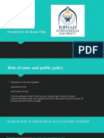 role of state and public policy
