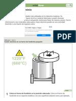3 formas de fundir aluminio -