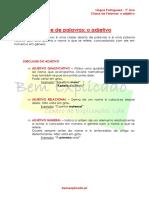 Adjetivo - Ficha Informativa