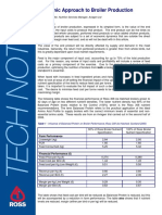 Tech Note - Economic Approach to Broiler Production