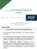 GESTION RECLAMOS Medicamentos y FOFAR 2016 Curso OIRS