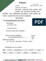اختبارات السنة الثالثة ابتدائي الفصل الثالث اللغة الفرنسية موقع المنارة التعليمي 2018 (5)