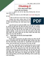 Chuong 2 Chuc Nang Hoach Dinh