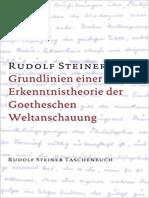 002 Grundlinien einer Erkenntnistheorie der Goetheschen Weltanschaung