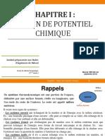Chapitre I  (potentiel chimique) 2015