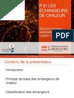 P 31 LES ÉCHANGEURS DE CHALEUR. DECLAYE Sébastien GENDEBIEN Samuel LEMORT Vincent.pdf