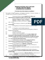 Requisitos para Grado Agosto 2015