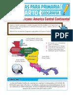América-Central-Continental-para-Cuarto-Grado-de-Primaria
