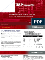 TEMA 01 NATURALEZA DE LOS FLUIDOS INGENIERÍA CIVIL 2019