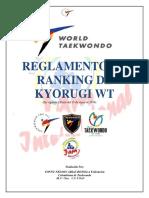 2019 Reglas de Ranking de Combate WT