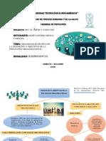 Organizador Gráfico de la definición y objetivos de la Psicología Organizacional.