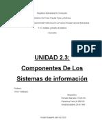 UNIDAD 2.3 Componentes De Los Sistemas de información