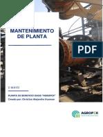 informe mensual mantenimiento de planta