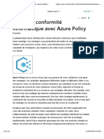 1-Appliquer et superviser les standards d'infrastructure avec Azure Policy-Définir la conformité informatique avec Azure Policy