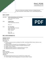 Tutoring Resume