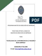 Tesis - Tecnologías De La Información En La Pyme.pdf